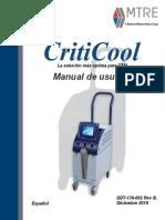 DDT136002 Rev B. Criticool User Spanish (December 2016)