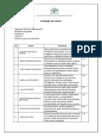 Relatório Atitudinal Geografia 1P 8 9