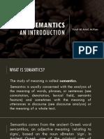 1. What is Semantics (1)
