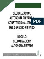 Presentación Globalización y Autonomía Privada