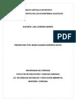 """Impacto Antrã""""Pico en Los Ecosistemas Acuã-ticos Ensayo"""