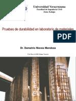 Pruebas de Durabilidad en Los Laboratorios de Materiales