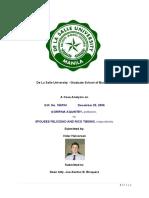 Report on Aquintey vs Tibong