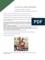 Cuestionario Sobre Los Inicios de La Edad Contemporánea