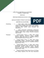 Permendagri Nomor 1 Tahun 2006
