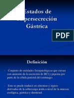 1- HipersecresiÓn Gástrica