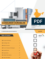 IBEF REPORT on Consumer Durables July 2019