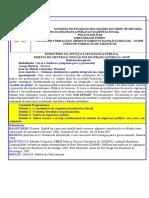 Ementa de Sistemas e Gestao Em Segurança Pública - Apostila (ATUAL)