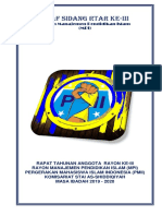 Draf Sidang RTAR PMII Rayon MPI
