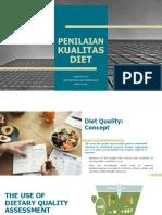 Penilaian Kualitas Diet