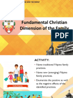 1 Fundamental Christian Dimension of the Family (1)