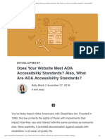 Article Accessibility Standards
