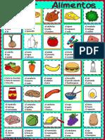 Alimentos Elecci n Multiple