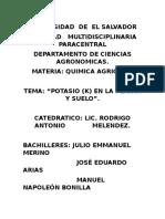 Potasio en Plantas PDF