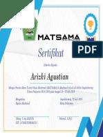 Sertifikat Panitia Matsama Fix