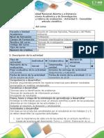 Guía de Actividades y Rúbrica de Evaluación - Actividad 5 - Consolidar Artículo de Investigación