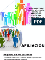 REGLAMENTO DE LA LEY DE SEGURO SOCIAL EN MATERIA DE AFILIACIÓN, CLASIFICACIÓN DE EMPRESA, RECAUDACIÓN Y FISCALIZACIÓN .pptx