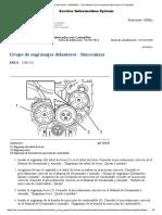 Grupo de Engranajes Delanteros - Sincronizar Búsqueda Del Medio - KSNR5291 - C6.6 Motores Para Máquinas Fabricadas Por Caterpillar