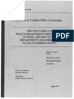 The NYPDs Disciplinary System a Review of the Departments False Statement Policy August 1999