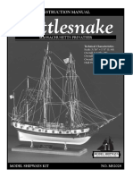 88046 Model Shipways Rattlesnake Instructions