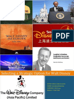 Selecting a Strategic Option for Walt Di