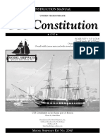 88050 Model Shipways Constitution Instructions