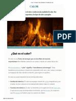 Calor_ Concepto, Tipos, Ejemplos y Unidades de Calor