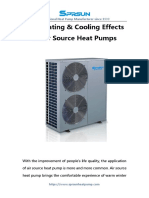 The Heating & Cooling Effects of Air Source Heat Pumps