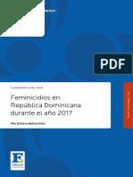 Feminicidios Rd 2017