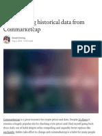 Downloading Historical Data From Coinmarketcap - Coinmonks - Medium