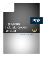 High Quality Backlinks Creation Sites List