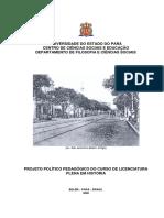 Projeto Pedagogico Curso de Historia