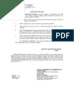 Affidavit of Loss of SSS ID