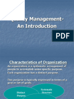 Quality Management-An Introduction