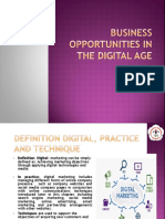 Business Opportunities in the Digital Age