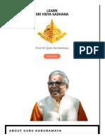 Sri Vidya Workshop