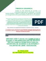 Modelo Estatuto FUNDACION Con Ambito de Accion TODO EL CICLO de VIDA