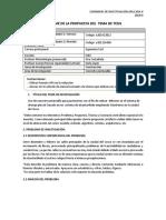 Estructura de La Propuesta de Investigacion Tb1 2018 0