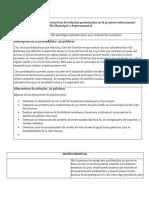 Descripción concreta y alternativas de solución presentadas en el proyecto seleccionado dentro del plan de desarrollo Municipal o departamental.docx