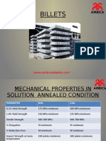 Mechanical Properties in Solution Annealed Condition