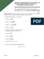 examen matemáticas para ingeniería 1