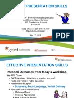 Effective Presentation Skills 2018-04-18