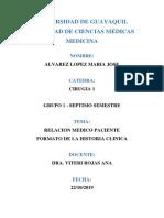 Historia Clinica- Cirugia