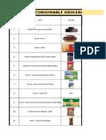 Carrefour - Procurement Grocery List - 15Oct2019 - Rev