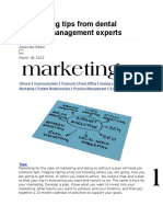 9 Marketing Tips From Dental Practice Management Experts