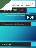 Diapositivas Mercado e Instituciones Financieras y de Seguros 2018- i - II A