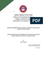 English Amharic Machine Translation