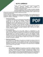 Acto Jurídico y Contrato-2019