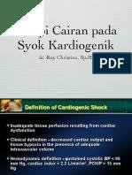 Terapi Cairan Pd Syok Kardiogenik