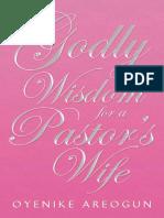 Godly Wisdom for a Pastor's Wife - Oyenike Areogun